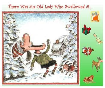 FREE     This SMART board lesson allows students to sequence the story of There Was An Old Lady Who Swallowed A Bell. It also contains slides that can be printed for students to sequence independently and to rewrite the story.