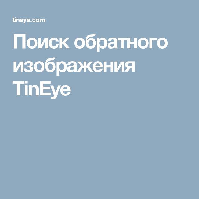 Поиск обратного изображения TinEye