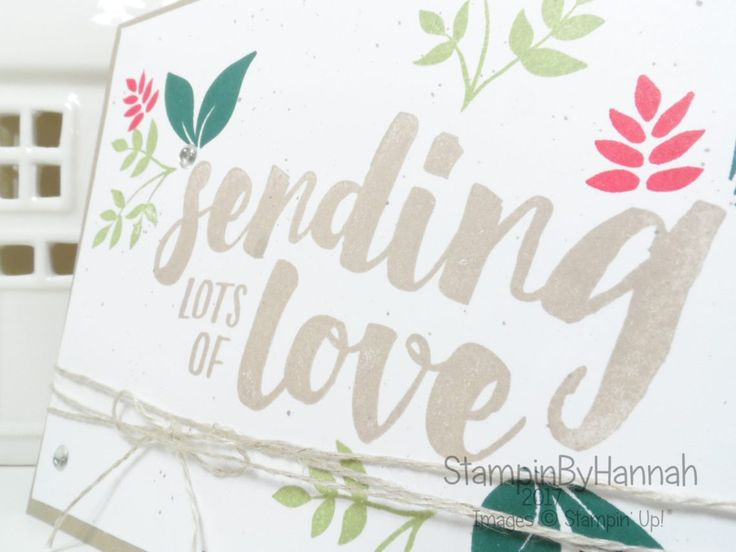 Inspire.Create.Challenges Colour Challenge December 2017 using Lots of Love from Stampin' Up!