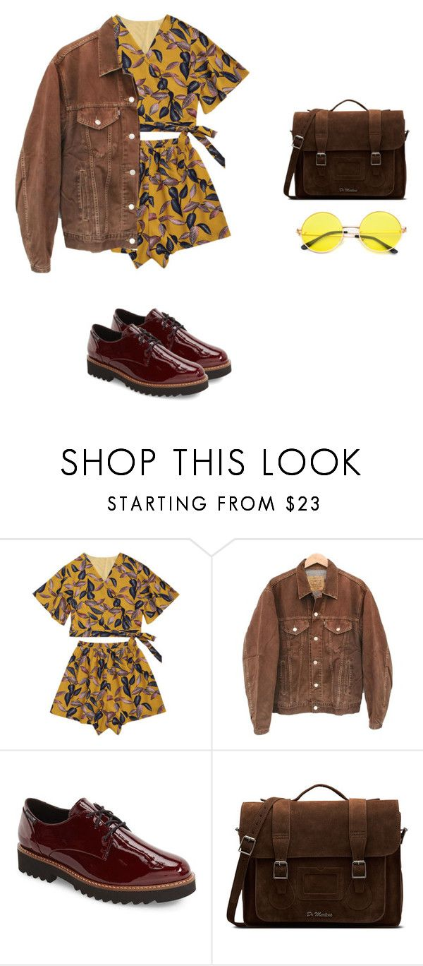 """solemnity"" by xoxotiffvni on Polyvore featuring Levi's, Mephisto and Dr. Martens"