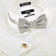 Solid White Wing Collar Tuxedo Slim Fit Dress Shirt