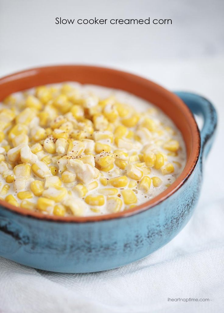 Slow cooker creamed corn recipe -easy and delicious