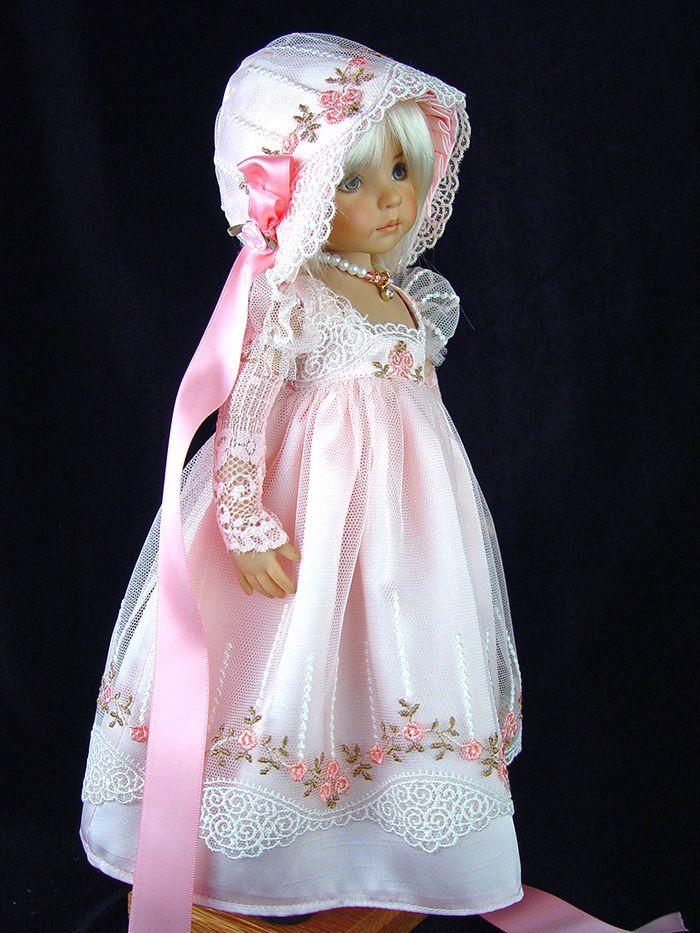 Regency, Jane Austen Gown fts Effner 13, Little Darling. LittleCharmersDollDsgns