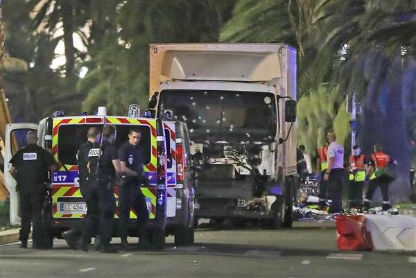 At least 84 people including childrens were killed during Bastille Day celebration in France.  Heavy truck ploughing into crowd - terrible scene. Also the hand grenades and gunshots reported.  The terrorist passed more than a mile killing