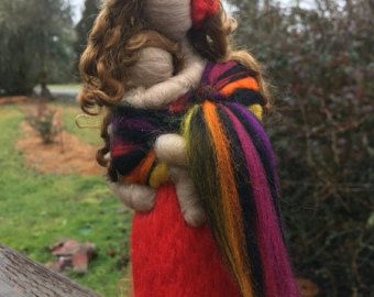 Ready to ship Needle Felted Babywearing Mother and