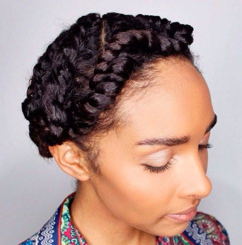 Flat Twists Updo For Natural Hair