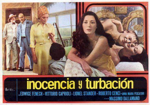 Innocenza e turbamento ,1974 Italy , by Massimo Dallamano ;  Edwige Fenech , Roberto Cenci