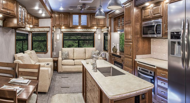 2017 Mobile Suites Aire MSA 38 Kitchen And Living Area | DRV Luxury Suites Good Looking