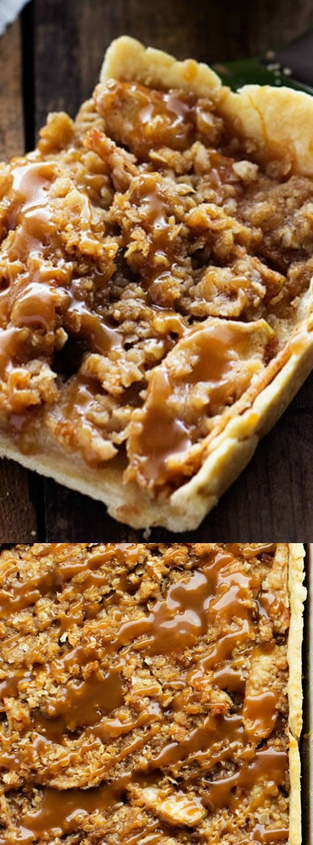 ^^ This Caramel Apple Slab Pie recipe from The Recipe Critic is a deliciously thin and flaky melt in your mouth fall dessert that you are going to LOVE!