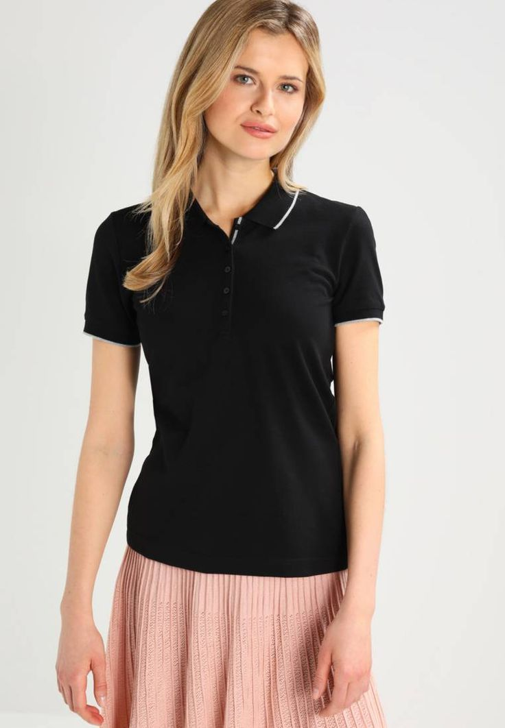 """s.Oliver. Polo shirt - black. Fit:regular. Outer fabric material:60% cotton, 37% polyester, 3% spandex. Our model's height:Our model is 71.0 """" tall and is wearing size 10. Pattern:plain. Care instructions:do not tumble dry,mach..."""