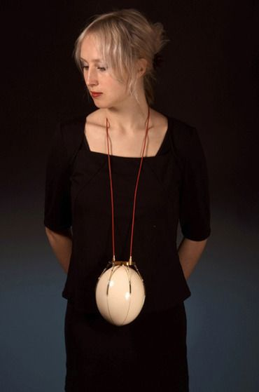 Norwegiancrafts.no 'Carrying Device for an Ostrich Egg', by Sigurd Bronger