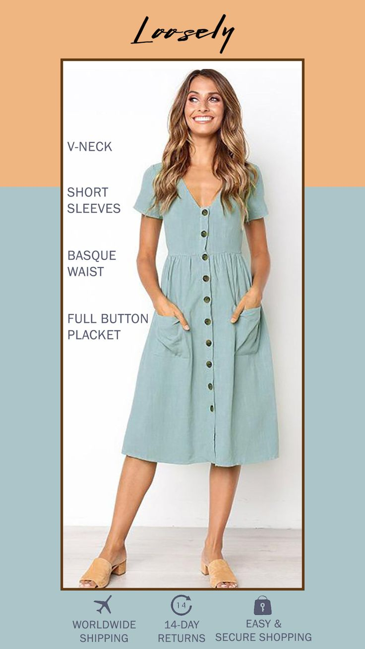This romantic long sleeve swing dress is made from a lightweight cotton linen bl... 2