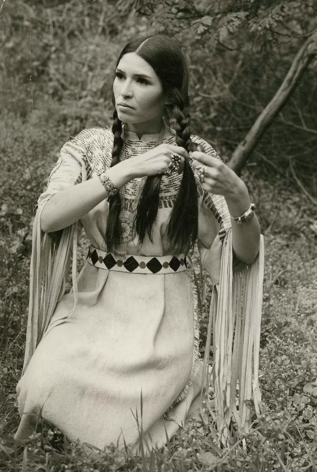 sacheen littlefeather portrait stunner native american regalia beauty