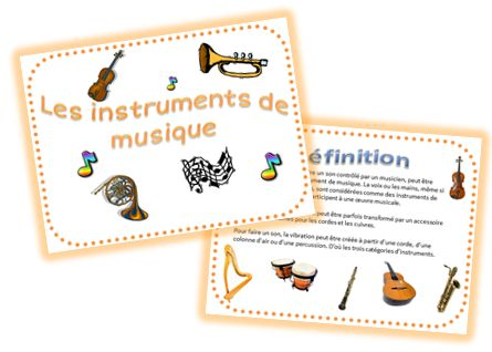 Projet sympa sur Les instruments de musique