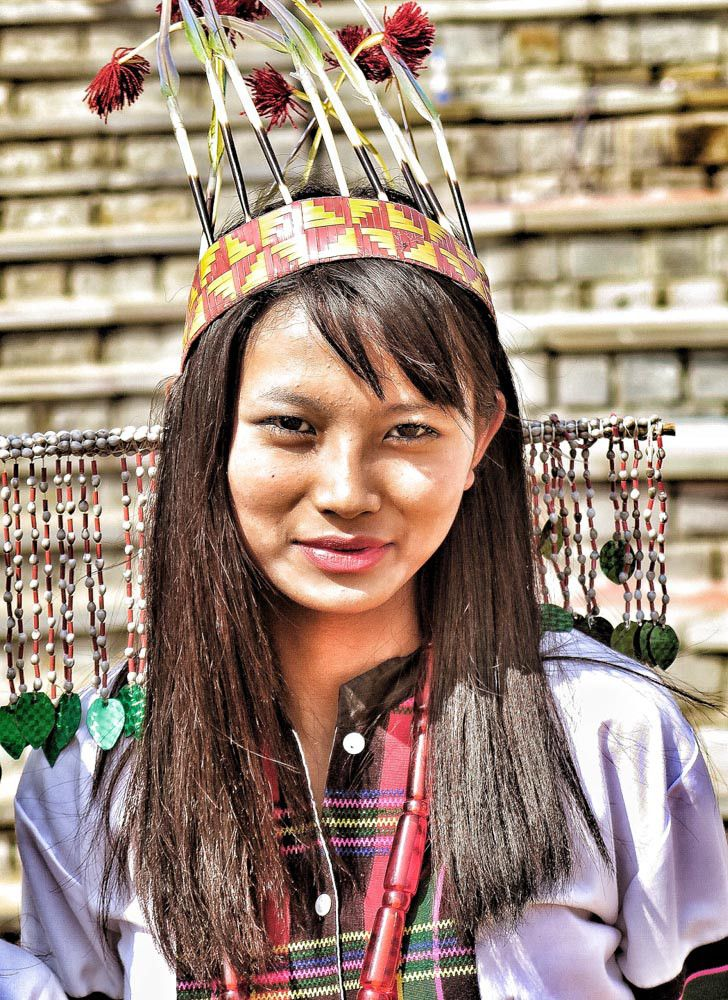 A local girl in Assam in north east india in her traditional dress #india #travel #portrait #face #assam