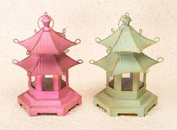 Pagoda Lanterns - asian - tabletop - Beth Connolly