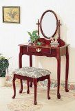 Vanity Table Set in Cherry - Coaster - http://furnitureheaven.ianjweboffers.com/vanity-table-set-in-cherry-coaster/