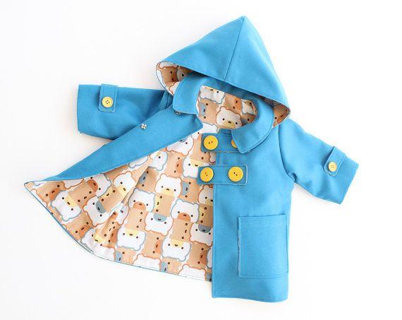 WITTY BEAR Boy Girl Duffle Coat  HAT pattern Pdf by PUPERITA