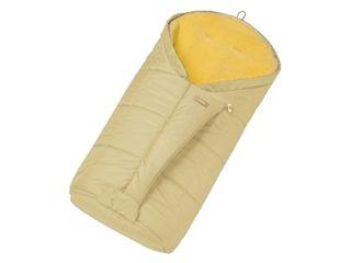 Christ Kinderwagen-Fußsack Tula Vario Zip, Sahara - Mit echtem Lammfell - auch als Wickelunterlage geeignet