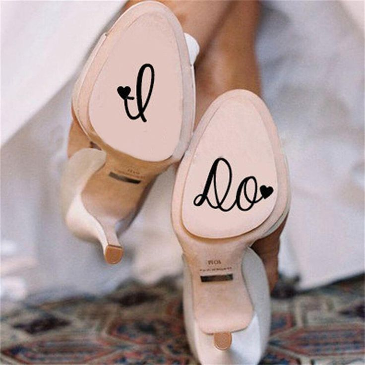 Creative High-Heeled Shoes Accessories Vinyl Lettering I DO – GetheBuzz