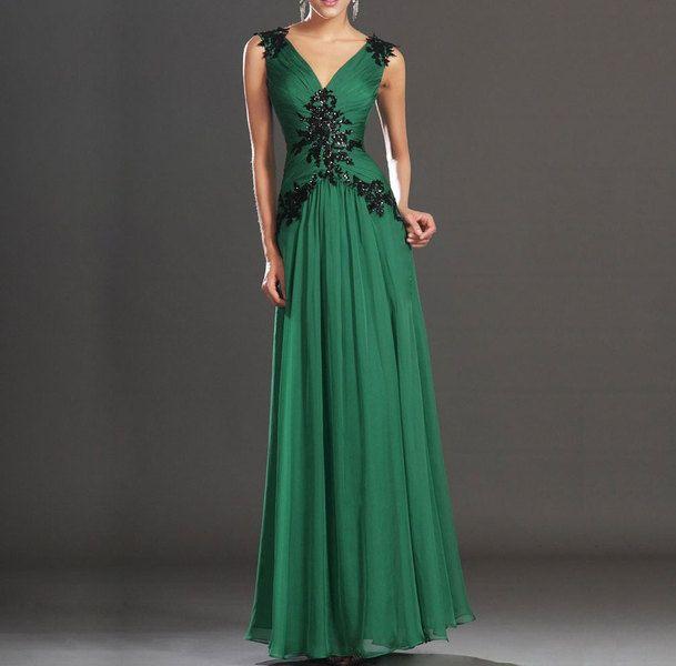Verde+gasa+de+seda+vestido+maxi+vestido+de+noche+de+Customsize+por+DaWanda.com