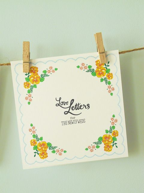 "DIY Wedding ""Hanky"" Love Letters"