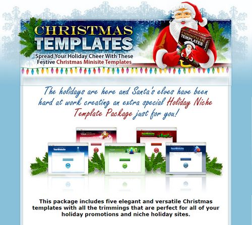Christmas Templates Pack - Master Resell Rights