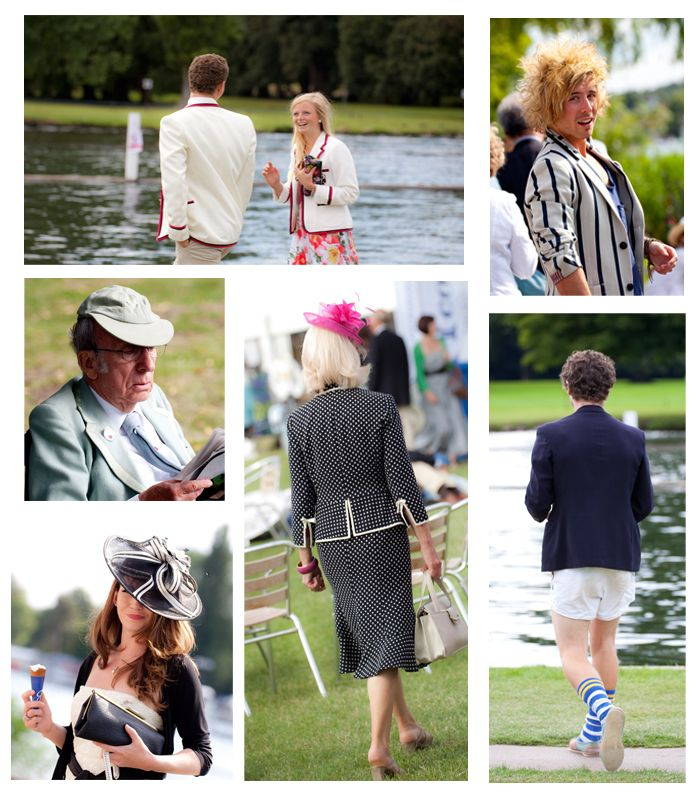 Lessons from Henley Regatta: The People. People watching – what a terrific pastime it is!  I'm a very visual person, with a background as a professional photographer, so I really enjoyed all the outfits, hairstyles, personalities and characters that Henley Regatta had to offer.  Boaters, blazers and wedding-type hats were the order of the day, and some attendees were more creative than others!