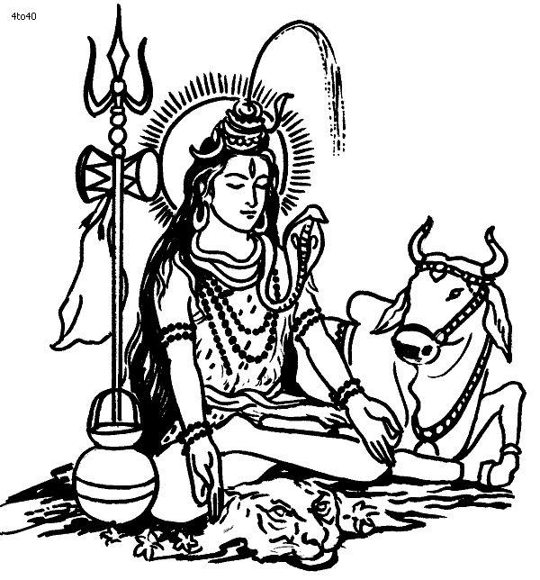 Lord shiva Coloring Page, Shiva The Kailashnath Coloring Page, Lord shiva Coloring Book