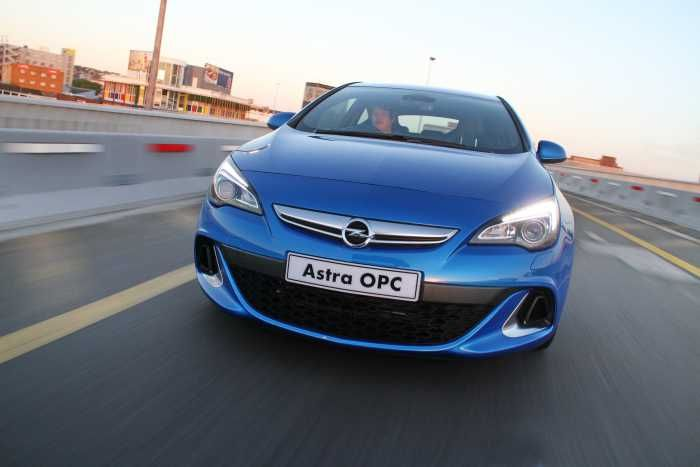 On the Opel Astra OPC!