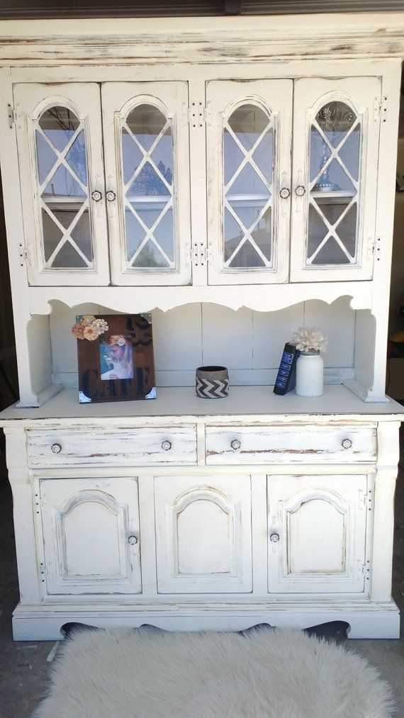 Adorable Distressed Hutch  SOLD by CORusticChic on Etsy, $400.00