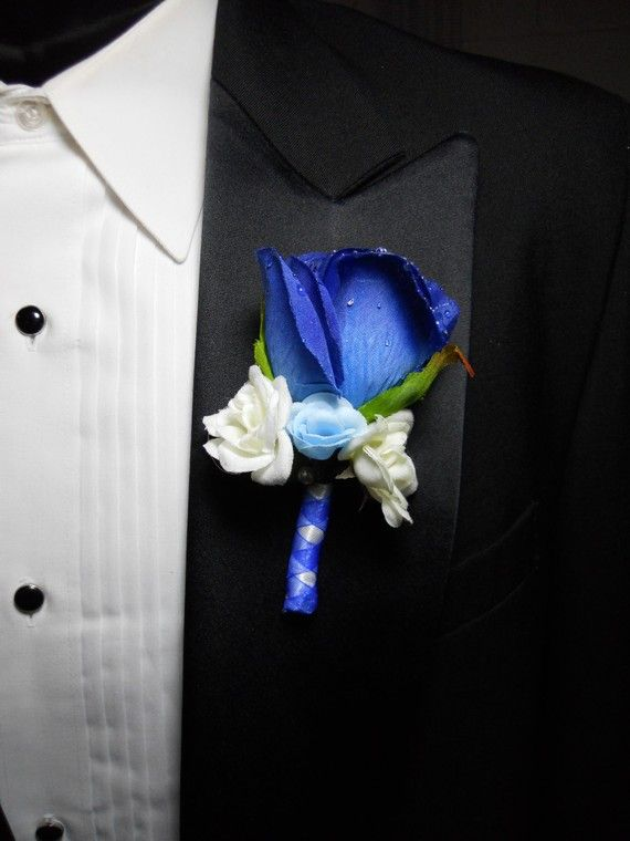 Hey, I found this really awesome Etsy listing at http://www.etsy.com/listing/70134001/blue-wedding-bouquets-boutonnieres-hair