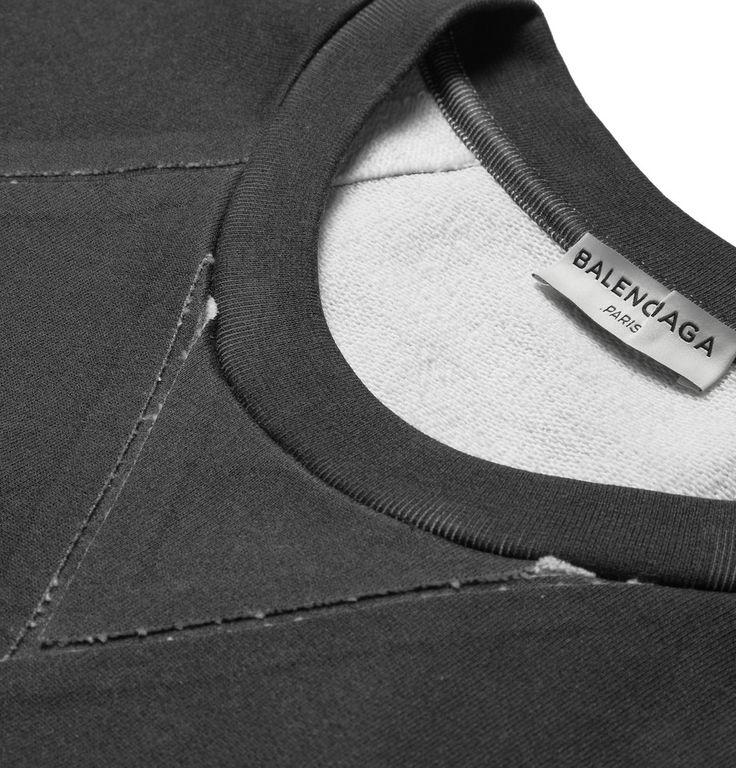 Balenciaga - Coated Bonded Cotton-Jersey Sweatshirt   MR PORTER