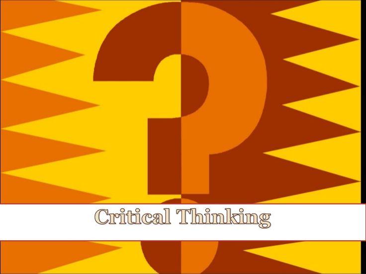 Presentazione sul pensiero critico i ninglese