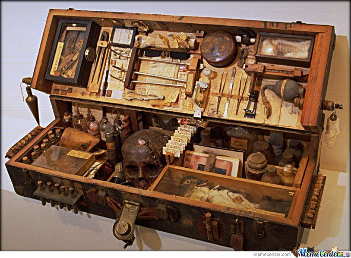 Medicine Chest / Forensics Kit from the 1800s