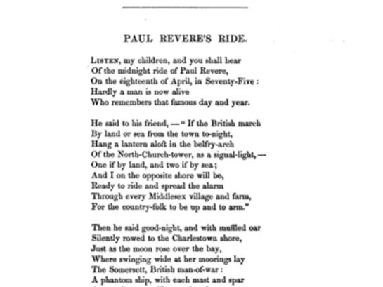 henry wadsworth longfellow paul revere's ride - Google Search | LM ...