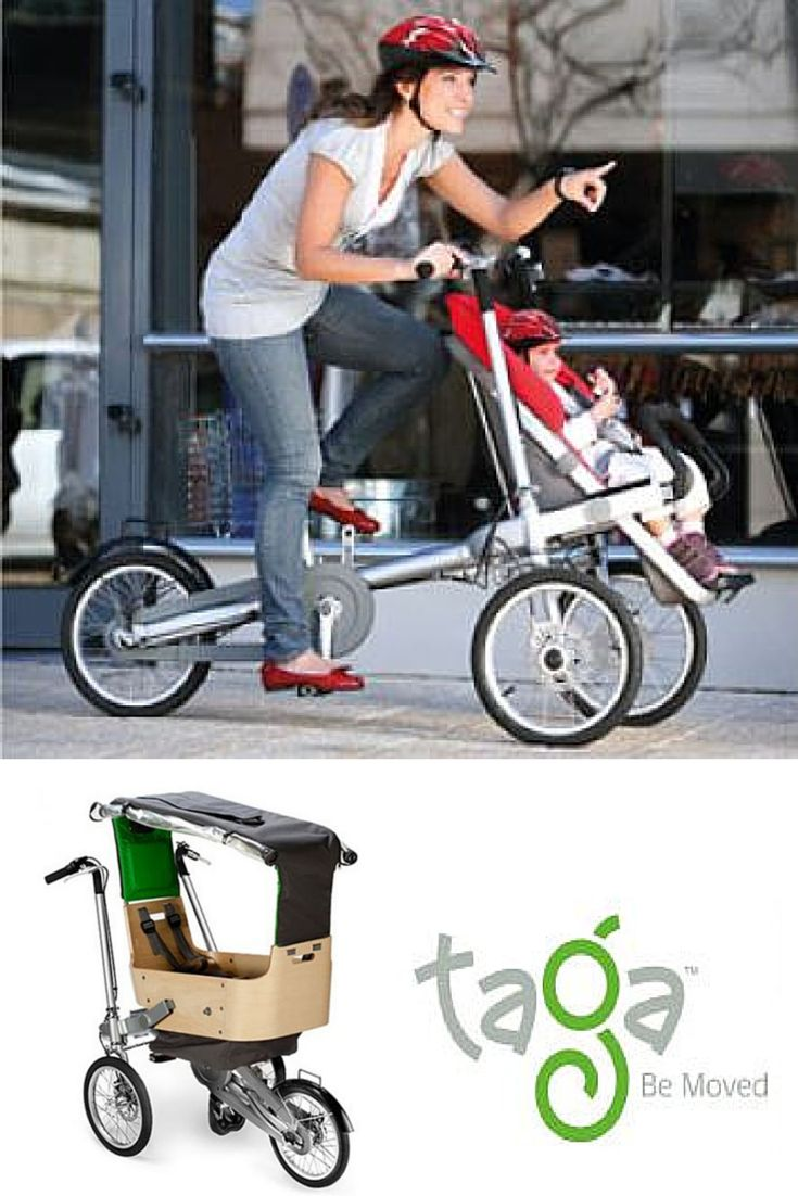 #TagaBike: within seconds it goes from super fun, easy and safe #bike to a design, easy to handle #stroller that fits easily in shops, trains and elevators.