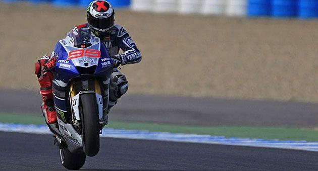 Jorge Lorenzo, durante la sesión / Foto: Reuters #motoGp 2013 Jerez