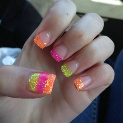 Gel Colorful Nail Designs For Short Nails