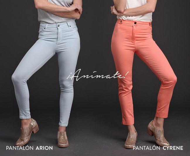 ¡Pantalones de color!