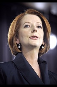 Julia Gillard the Prime Minister of Australia.