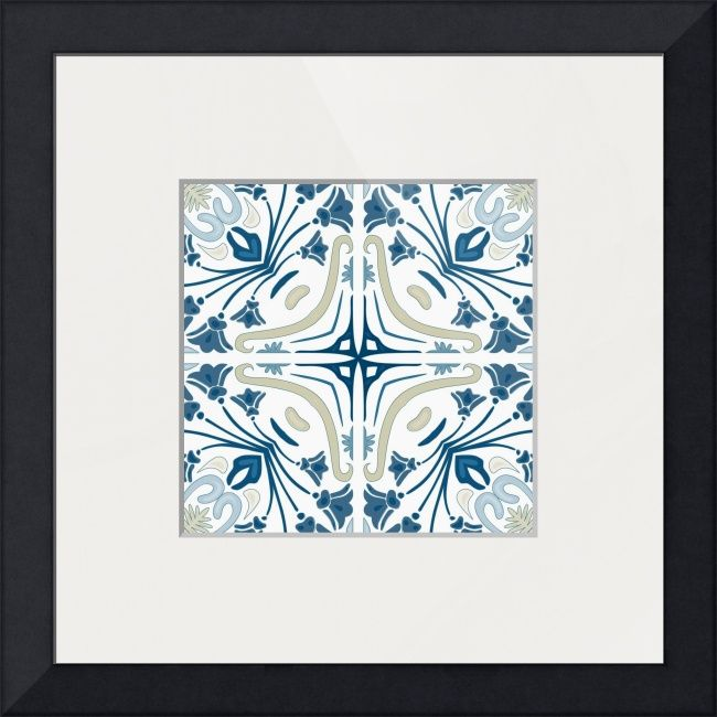 """""""Portuguese tiles"""" by Iva Villi: Illustration inspired by traditional Portuguese tiles // Buy prints, posters, canvas and framed wall art directly from thousands of independent working artists at Imagekind.com."""