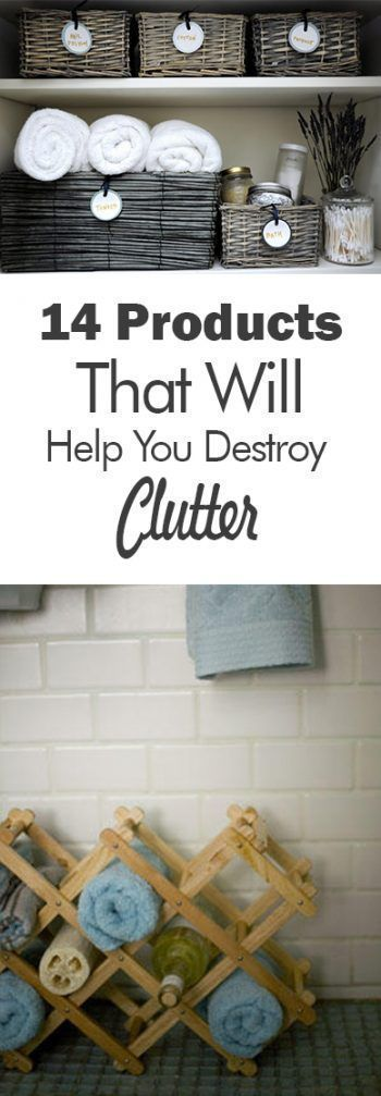 14 Products That Will Help You Destroy Clutter| How to Get A Clutter Free House, Clutter Free Living, Declutter Your Home, How to Declutter Your Home, Cleaning, Clean Home, Cleaning and Organization, Organize Your Home, Home Organization #clutterfreehome #clutterhacks