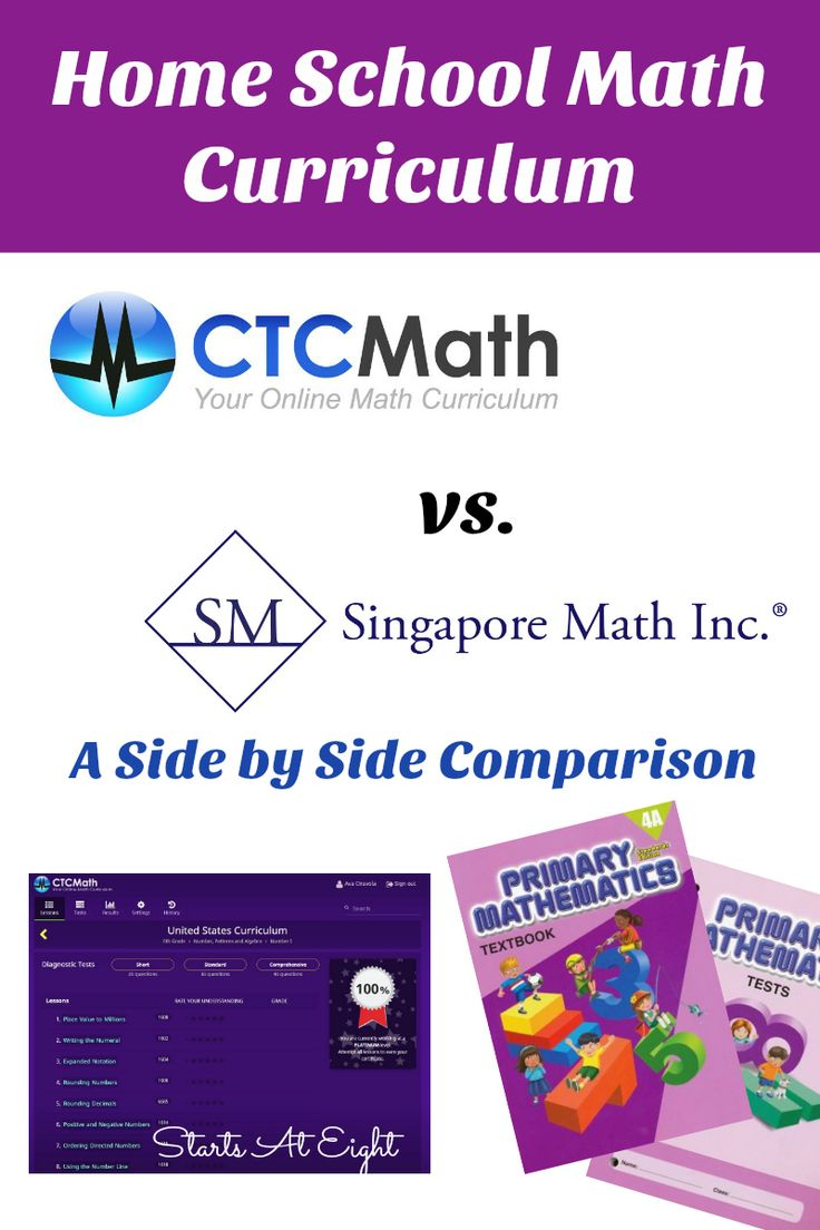 home school math curriculum  ctcmath vs  singapore math