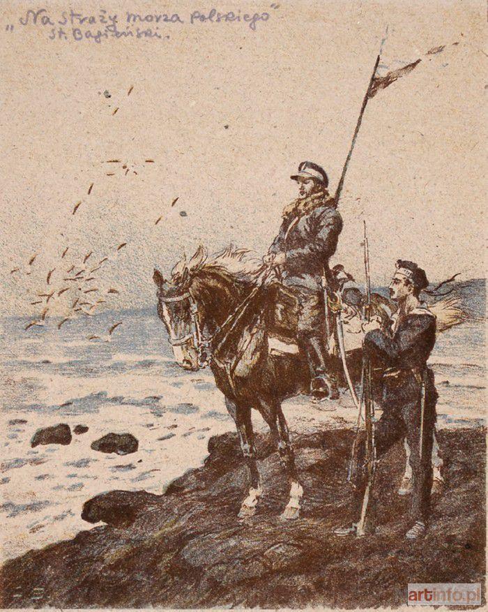 Stanisław BAGIEŃSKI Na straży morza polskiego, 1919