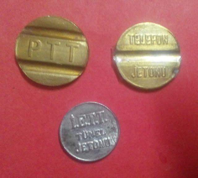 Madeni ve Kağıt Eski Paralar Halı Tesbih ve Değerli Eşyalar Kolleksiyonu: P.T.T. VE İ.E.T.T. Jetonları