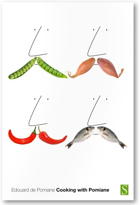 """Design firm Pentagram recently designed a new cover for a reissue of Edourdo de Pomiane's 1930 classic Cooking With Pomiane. The cover features four creative mustaches made from different foods. De Pomiane, in addition to being a famous """"food writer and culinary personality"""" also had a kick-ass mustache."""