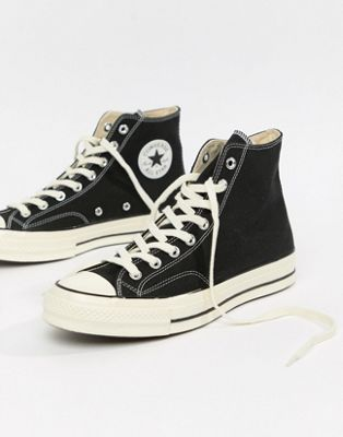 3c87380cdcc6 Image 1 of Converse Chuck Taylor All Star  70 Hi Sneakers In Black 162050C