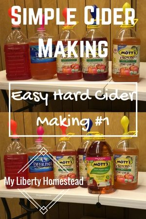 Easy hard cider making with everyday materials!