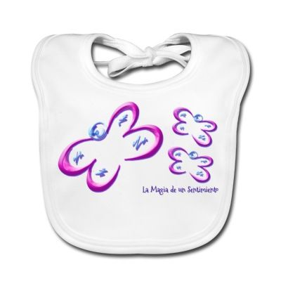 Babero Mariposas - Butterfly Bib  - #Shop #Gift #Tienda #Regalos #Diseño #Design #LaMagiaDeUnSentimiento #MagiaYColor #ElBosqueDeXana #MaderaYManchas #mariposa #butterfly #transformación #rosa #pink #babero #bib #kid #children #boy #girl #baby